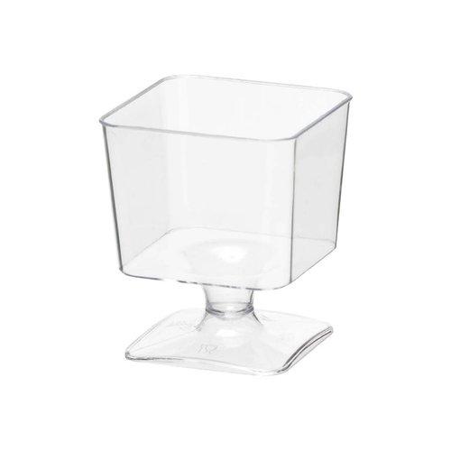 **Mini Square 2oz Cups With Stem 20ct