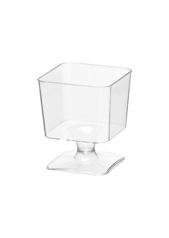 ****Mini Square 2oz Cups With Stem 20ct