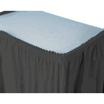 ***Black Velvet 14' Plastic Table Skirt