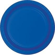 """***Cobalt 7"""" Round Paper Plates 24ct"""