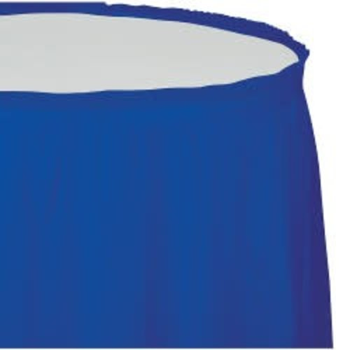 Cobalt 14' Plastic Table Skirt
