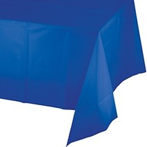 *Cobalt Rectangle 54x108 Plastic Table Cover