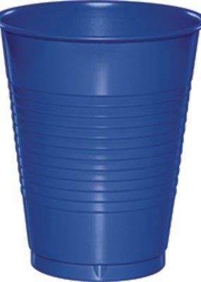 ***Cobalt 16oz Plastic Cups 20ct