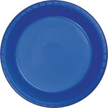 """***Cobalt 7"""" Plastic Dessert Plates 20ct"""