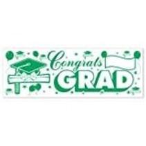 *Green White Grad Banner