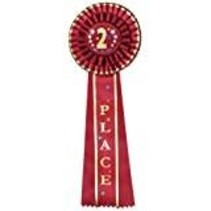 Red 2nd Place Rosette