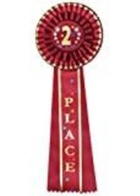 ***Red 2nd Place Rosette