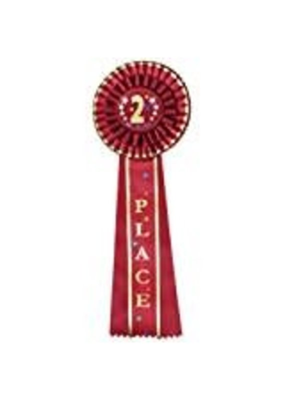 ****Red 2nd Place Rosette