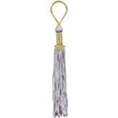 Silver Grad Tassel Key Chain