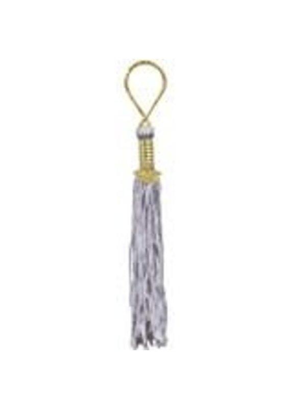 ***Silver Grad Tassel Key Chain