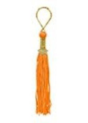 ***Orange Grad Tassel Key Chain