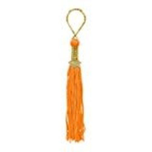 Orange Grad Tassel Key Chain