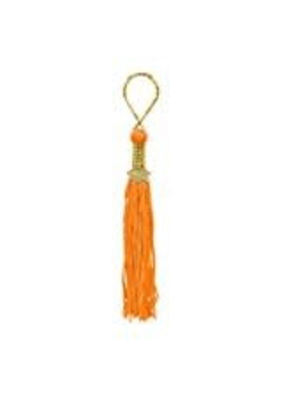 ****Orange Grad Tassel Key Chain