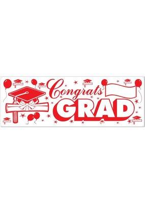 ***Red Congrats Grad Banner