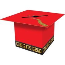 Red Grad Cap Card Box