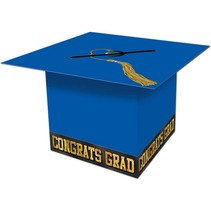 Blue Grad Cap Card Box