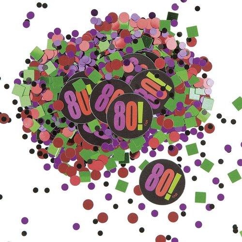 Unique Birthday Cheer 80 Confetti