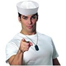 *White Sailor Gob Hat (hat only)