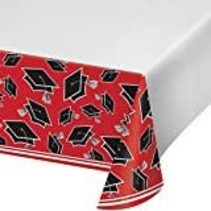 Red Grad School Spirit Plastic Tablecover