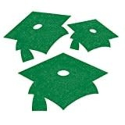 Green Grad Glitter Mini Cutouts 12ct