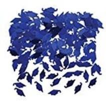 Blue Grad Cap Confetti
