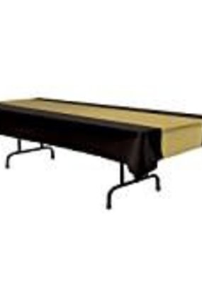 ***Black & Gold Beistle Tablecover