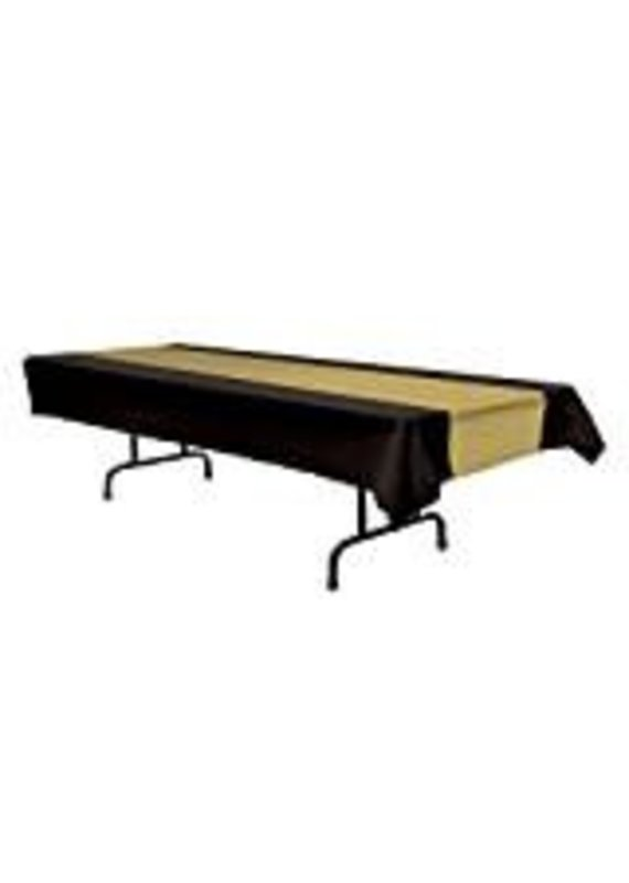 *****Black & Gold Beistle Tablecover