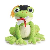 Plush Graduation Frog