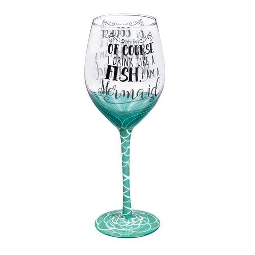 *I'm a Mermaid Wine Glass