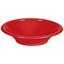***Classic Red 12oz Plastic Bowl 20ct