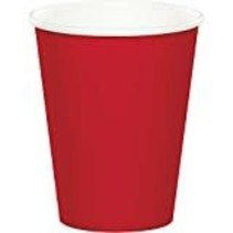 ***Classic Red 9oz Hot/Cold Cup 24ct