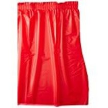 ***Classic Red 14' Plastic Table Skirt