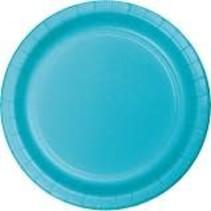 """***Bermuda Blue 7"""" Paper Dessert Plate 24ct"""