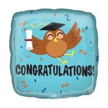 "Congratulations Grad Owl 18"" Mylar Balloon"