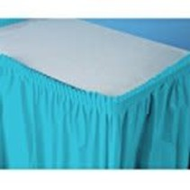 ***Bermuda Blue 14ft Plastic Table Skirt