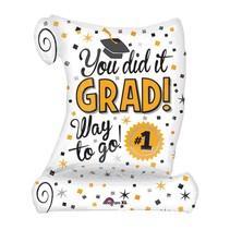 "You Did it Grad! Diploma 26""  Jumbo Balloon"