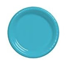 """***Bermuda Blue 7"""" Plastic Dessert Plates 20ct"""