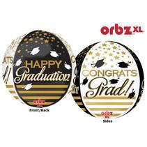 Congrats Grad Black & Gold Orbz