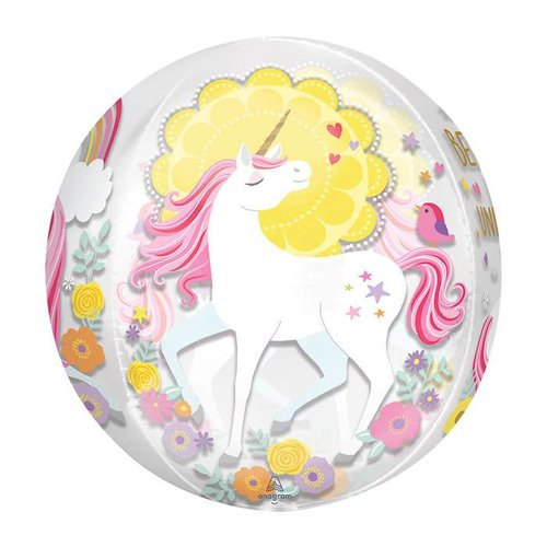 Magical Unicorns Orbz Mylar Balloon