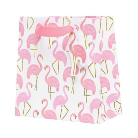 CR Gibson ***Flamingle Petite Embellished Gift Bag