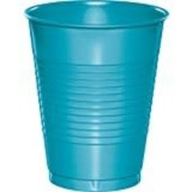 ***Bermuda Blue 16oz Plastic Cups 20ct