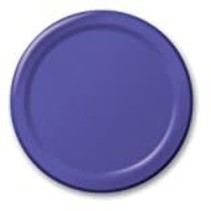 "***Purple 7"" Paper Dessert Plates 24ct"