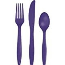 ***Purple Assorted Cutlery 24ct