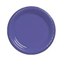 "***Purple 10"" Plastic Banquet Plates 20ct"