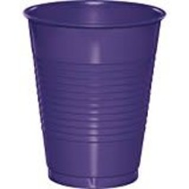 ***Purple 16oz Plastic Cups 20ct