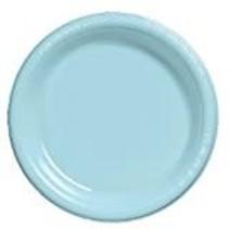 """***Pastel Blue 10"""" Plastic Banquet Plates 20ct"""