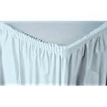 ***Pastel Blue 14' Plastic Table Skirt