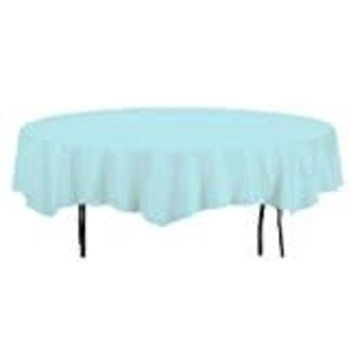 """*Pastel Blue 82"""" Octy Round Tablecover"""