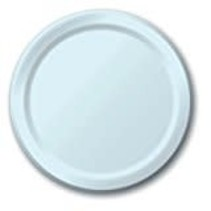 "***Pastel Blue 7"" Paper Dessert Plates 24ct"