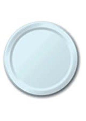 "****Pastel Blue 7"" Paper Dessert Plates 24ct"